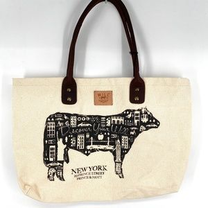 Will Leather Goods canvas NYC collection tote bag